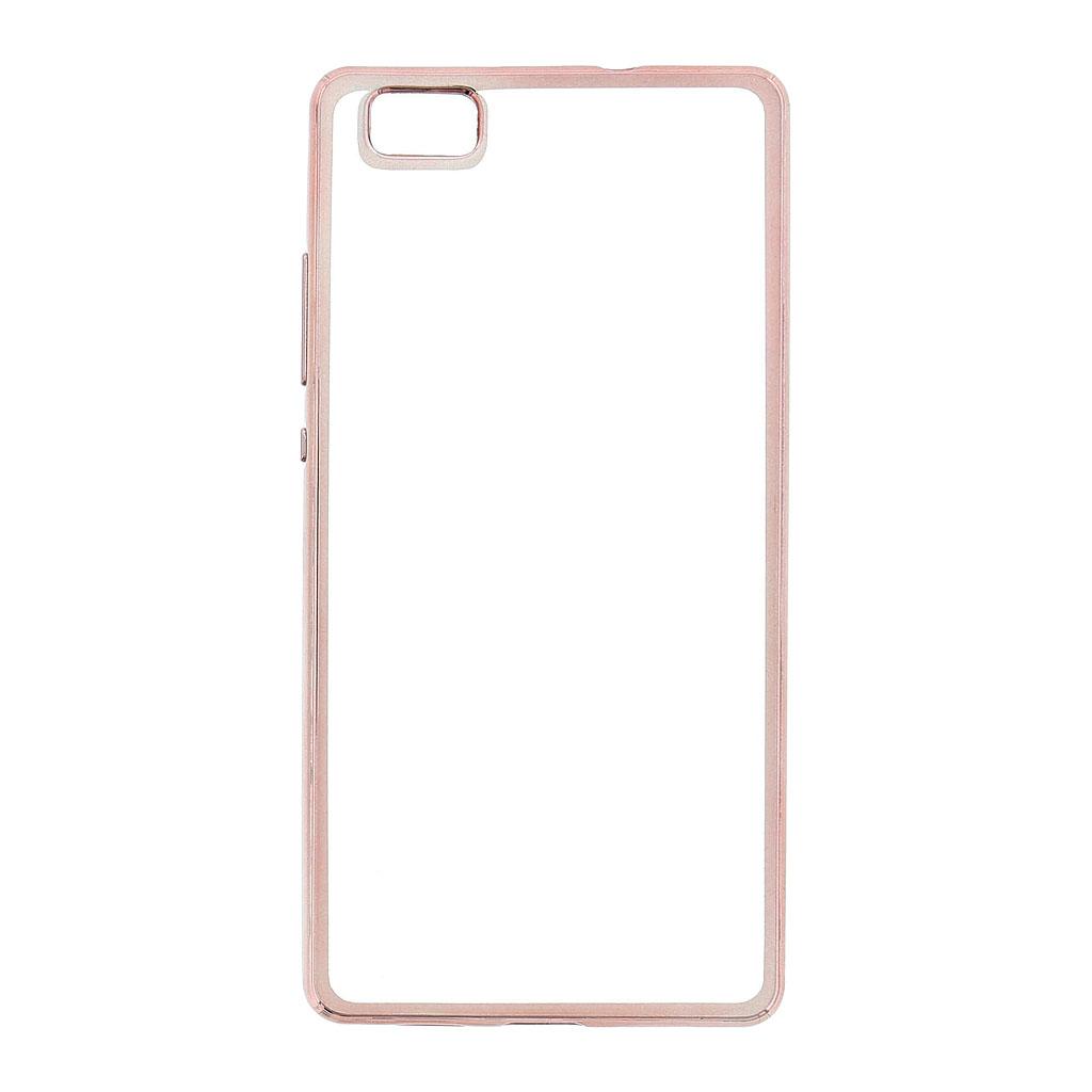 Kisswill TPU Pouzdro Transparent/Rose Gold, Huawei Ascend P8 Lite