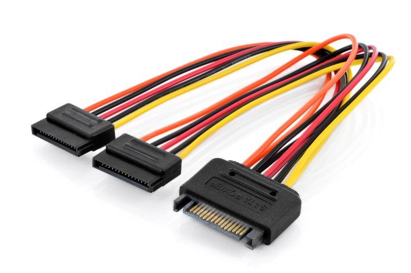 Digitus redukce napájení M/F, 0.3m, EPS 8-pin - EPS 8-pin, UL