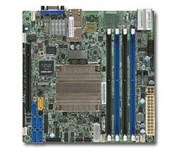 SUPERMICRO mini-ITX MB Xeon D-1557 (12-core), 4x DDR4 ECC DIMM,6xSATA1x PCI-E 3.0 x16, 2x10GbE LAN,IPMI