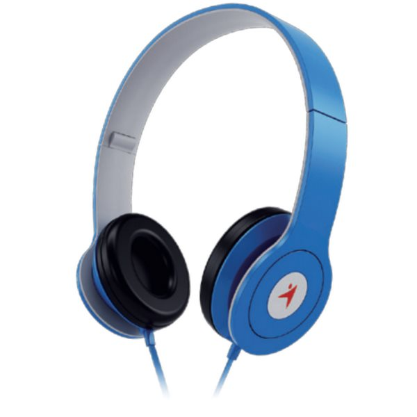 GENIUS headset - HS-M450/ (stereo sluchátka + mikrofon), 3,5mm, modrý