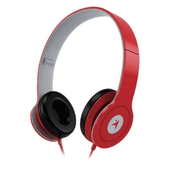 GENIUS headset - HS-M450/ (stereo sluchátka + mikrofon), 3,5mm, červený