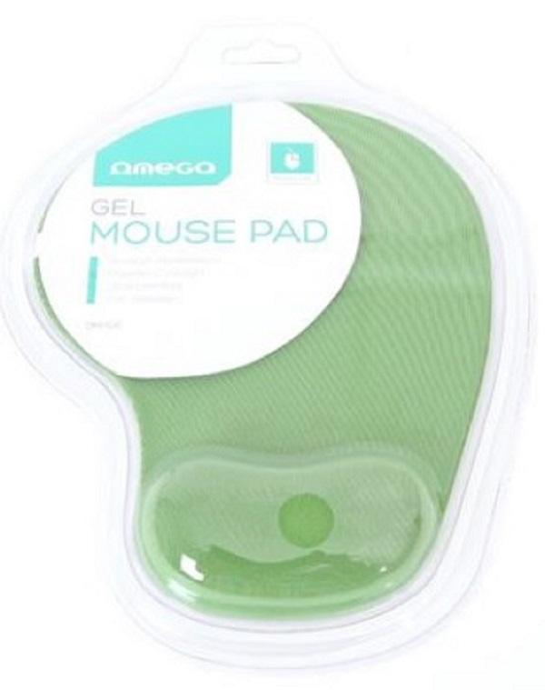 OMEGA gelová podložka pod myš zelená