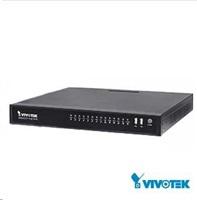 Vivotek NVR ND8422P, 16 kanálů s 8x PoE, 2x HDD (až 12TB), 3x USB, 1xHDMI a 1xVGA výstup, 8x DI / 4x DO, 1x e-SATA