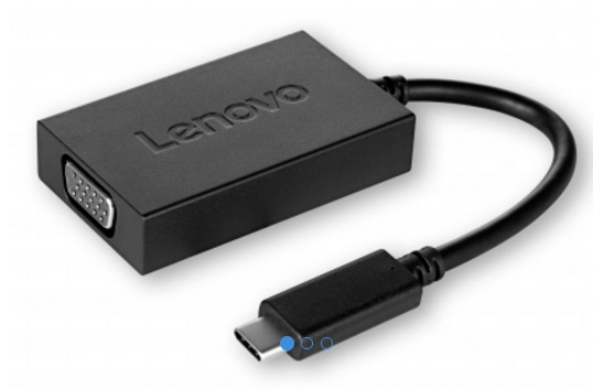 Lenovo kabel redukce USB C to VGA Plus Power Adapter