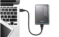 ADATA externí SSD SV620 240GB R/W až 410MB/s