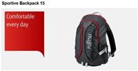 FUJITSU brašna - Sportive Backpack 15 - Maximum notebook size: up to 385 x 265 x 35 mm (15.6 inch)
