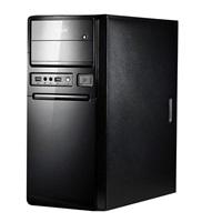 SPIRE skříň Maneo 1078, Midi Tower, black, USB 3.0, bez zdroje