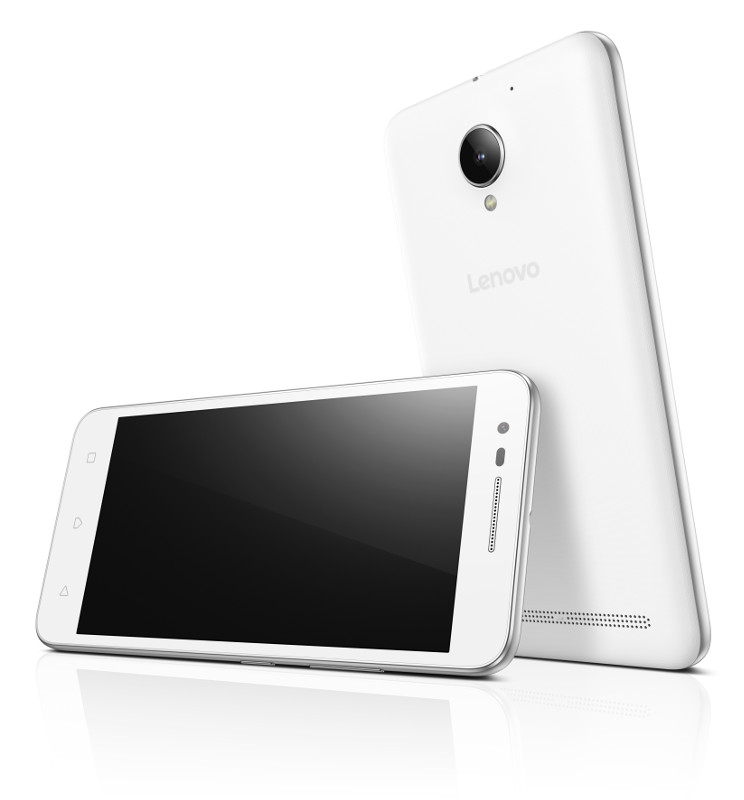 "Lenovo Smartphone C2 Dual SIM/5,0"" IPS/1280x720/Quad-Core/1,0GHz/1GB/8GB/8Mpx/LTE/Android 6.0/White"