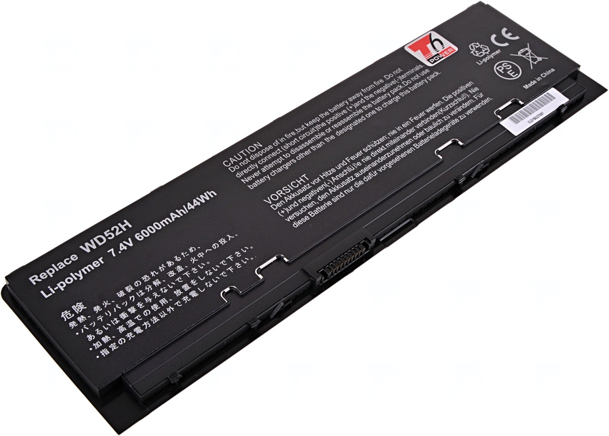 Baterie T6 power Dell Latitude E7240, 4cell, 6000mAh