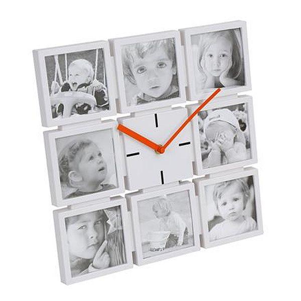 PLATINET nástěnné hodiny FAMILY s fotorámečky