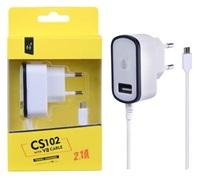 Nabíječka PLUS MicroUSB s USB výstupem 5V/2,1A, černá