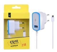Nabíječka PLUS MicroUSB s USB výstupem 5V/2,1A, modrá