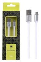 Datový kabel PLUS METAL MicroUSB, 1M, bílý