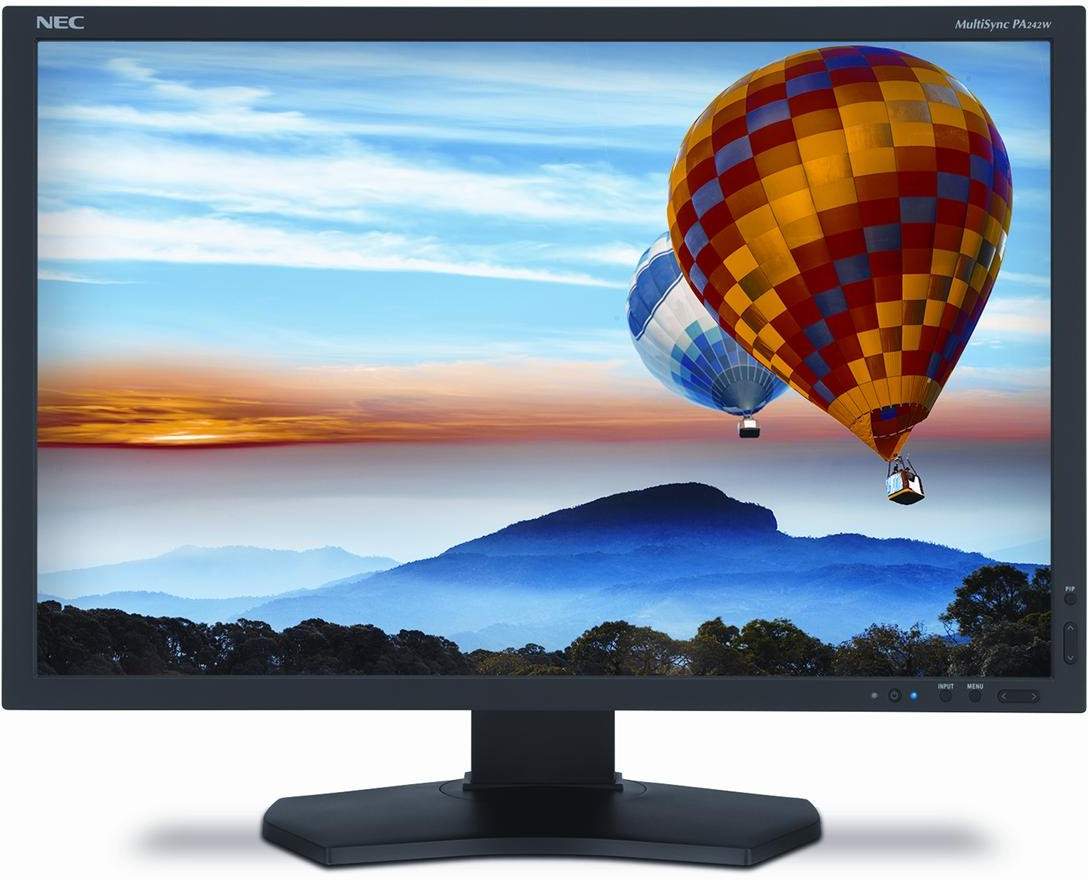 "24"" LCD NEC PA242W SV2-WUXGA,AH-IPS,DP,piv,blk"