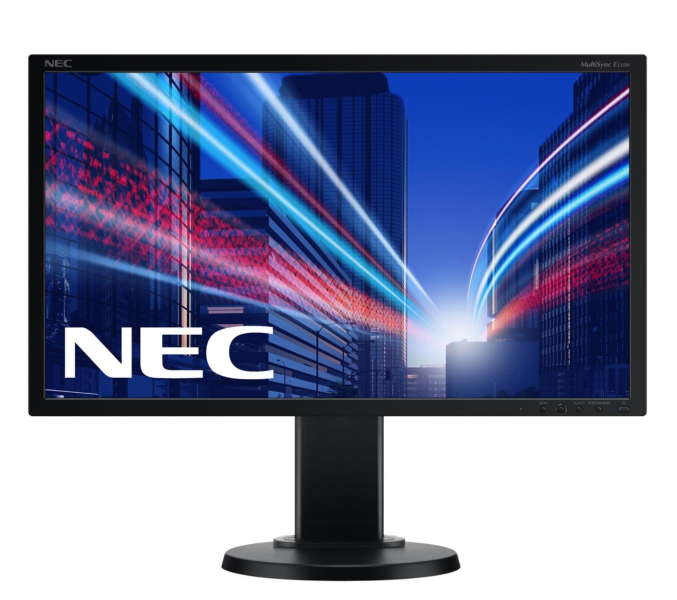"""23"""" LED NEC E231W - Full HD,TN,250cd,DVI,DP,black"""