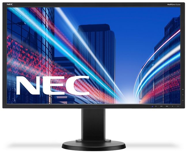 "NEC 22"" E223W - 1680x1050, TN, W-LED, 250cd, D-sub, DVI, DP, bílý"