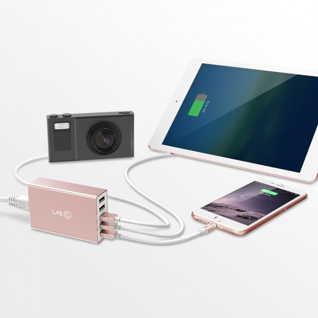 Lab.C X5 5Port USB Wall Charger - Rose Gold