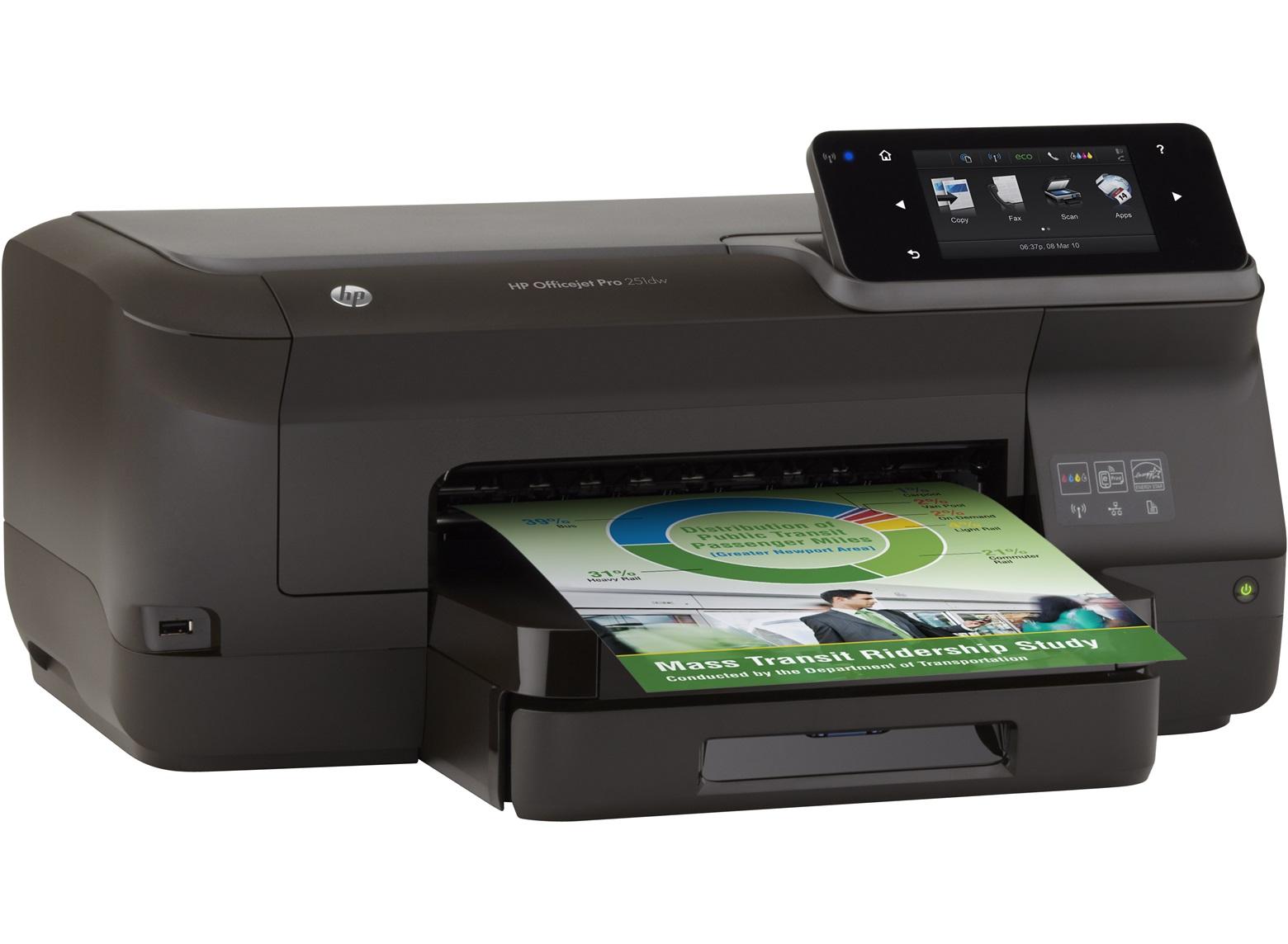 HP Officejet Pro 251dw /A4, 20/15ppm,USB,LAN,WLAN