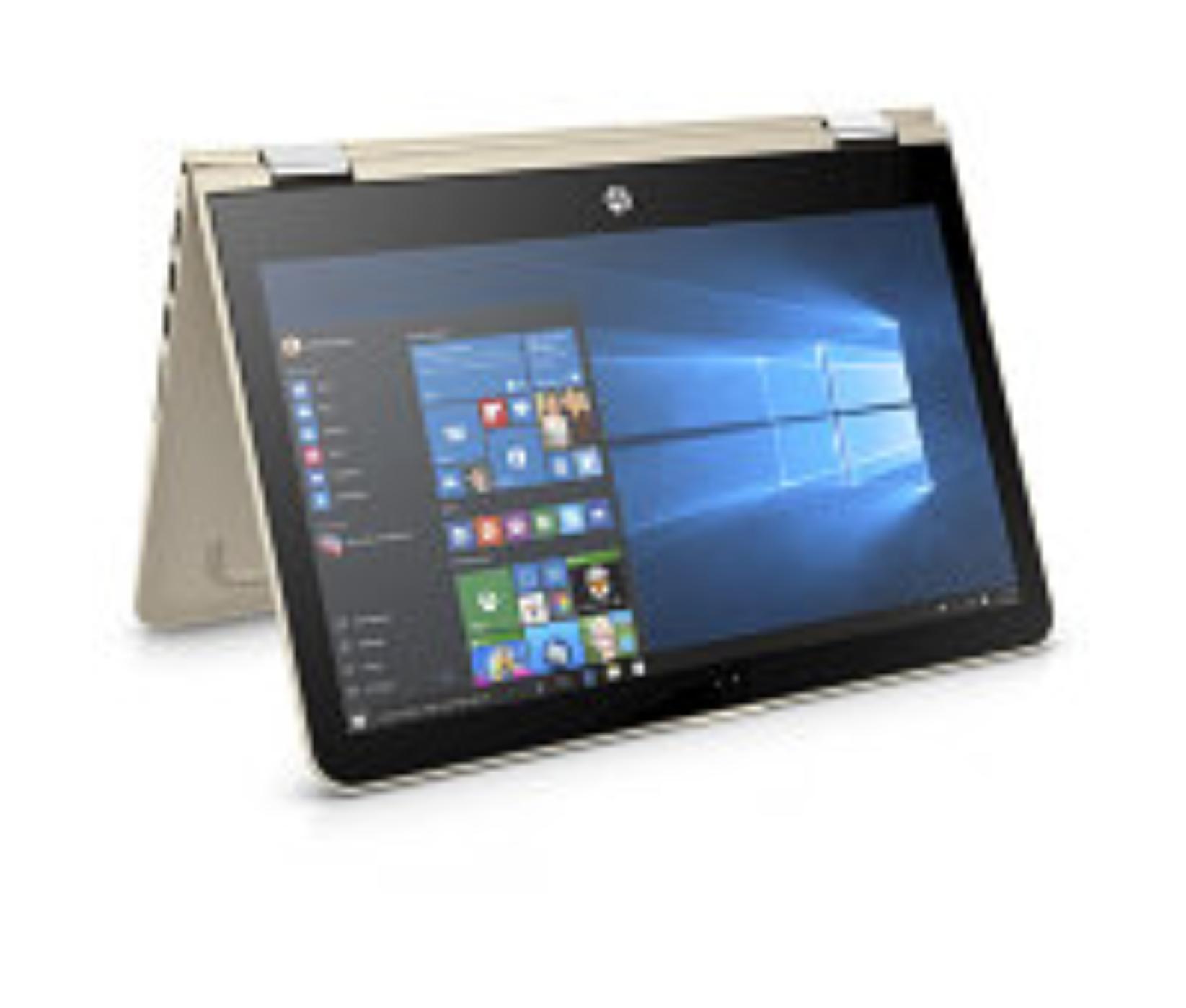 HP Pavilion x360 13-u002nc, i3-6100U, 13.3 FHD, IntelHD, 4GB, 500/8GB, W10,zlatý