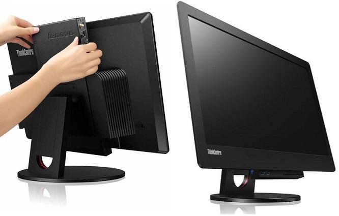 """Lenovo LCD Tiny-in-One 24"""" IPS WLED 1920x1080/16:9/1000:1/7ms/DP s držákem pro montáž PC v provedení skříně Tiny"""