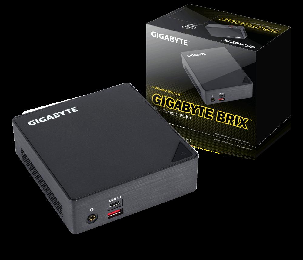 Gigabyte BRIX GB-BSi3A-6100, i3-6100U, 2.3GHz, DDR4-2133, M.2, HDMI, miniDP