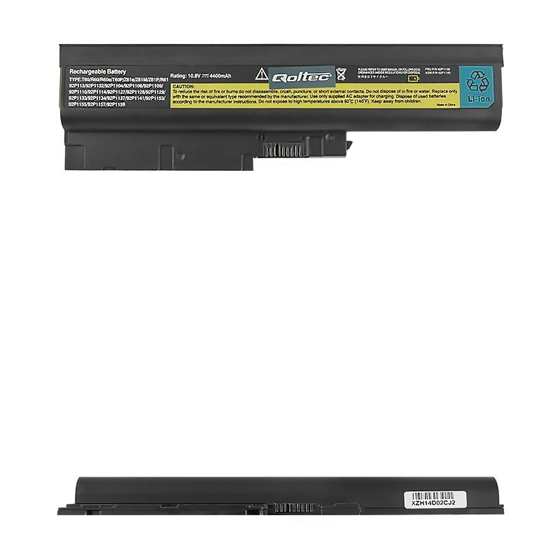 Qoltec Long Life Notebook Battery for Lenovo R500 R60 | 4400mAh | 11.1V