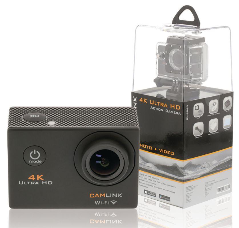 Camlink CL-AC40 - Akční 4K Ultra HD/30p kamera, Wi-Fi, LCD, vodotěsná do 30m