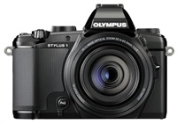 OLYMPUS Stylus 1s kompakt, 12 MPix, 10.7x zoom- černý