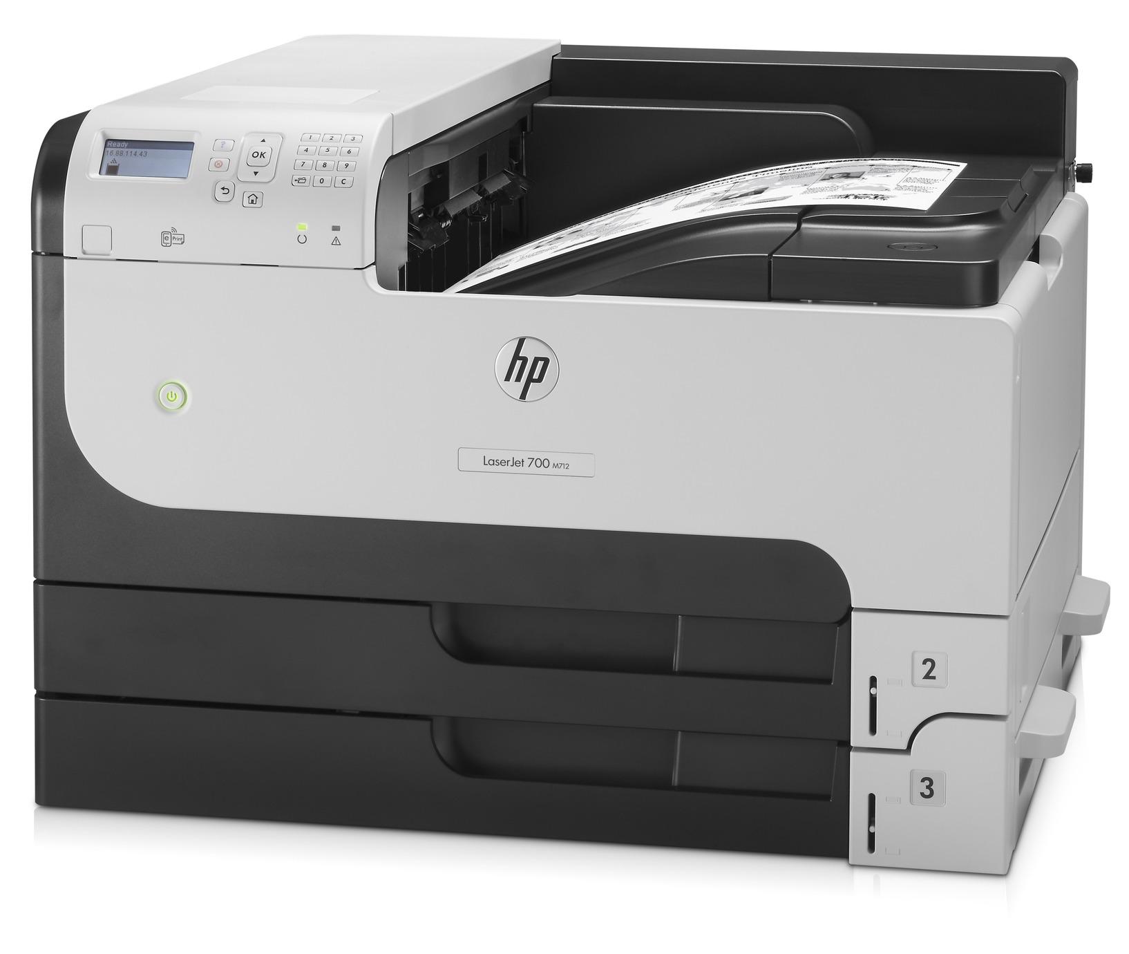 Tiskárna HP LaserJet Enterprise 700 M712dn A3 čb/41str  USB  LAN  duplex  0,39Kč
