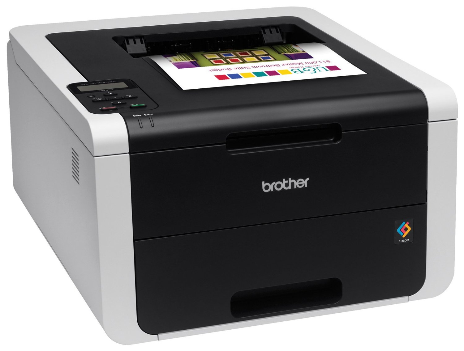 BROTHER tiskárna color LED HL-3170CDW - A4, 22ppm, 2400x600, duplex, 128MB, USB 2.0, LAN, WiFi