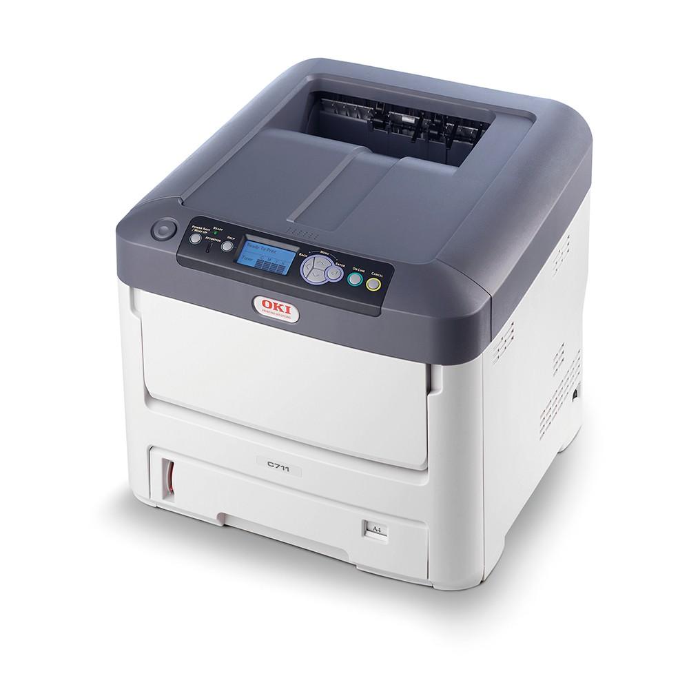 Oki C711dn A4 36/34 ppm ProQ2400 dpi, PCL, USB, LAN, Duplex