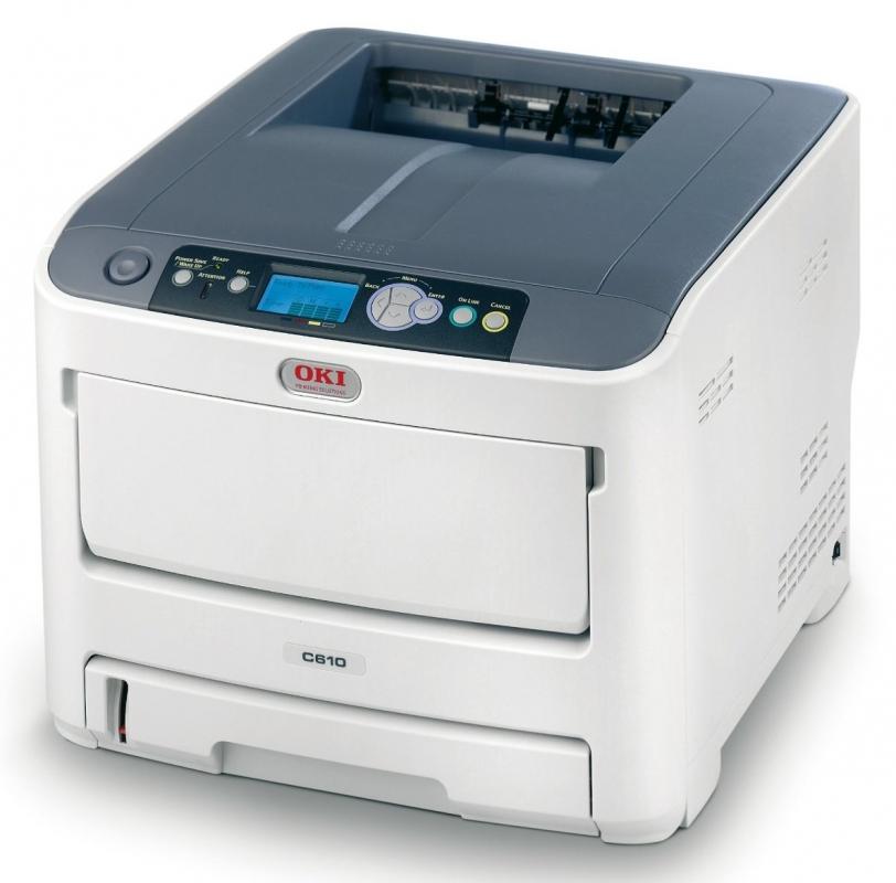 OKI C610n, A4, barevná, ProQ2400, 36/34ppm,PCL5c,PS3