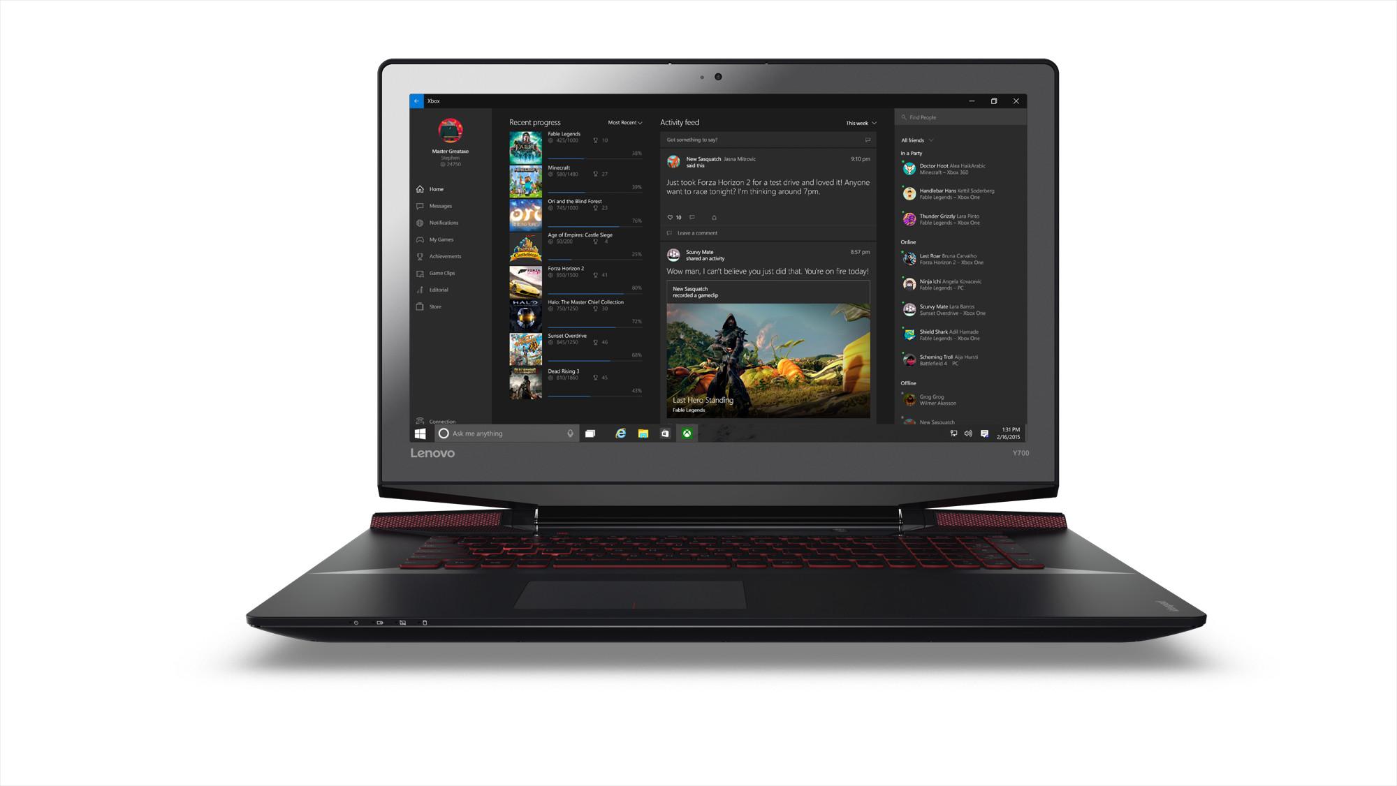 """Lenovo IdeaPad Y700 i7-6700HQ 3,50GHz/8GB/128GB SSD+1TB HDD/15,6"""" FHD/IPS/AG/GeForce 4GB/3DCAM/WIN10 černá 80NV00T2CK"""