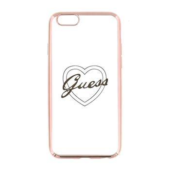 Guess Signature TPU Pouzdro Heart Rose Gold pro iPhone 5/5S/SE