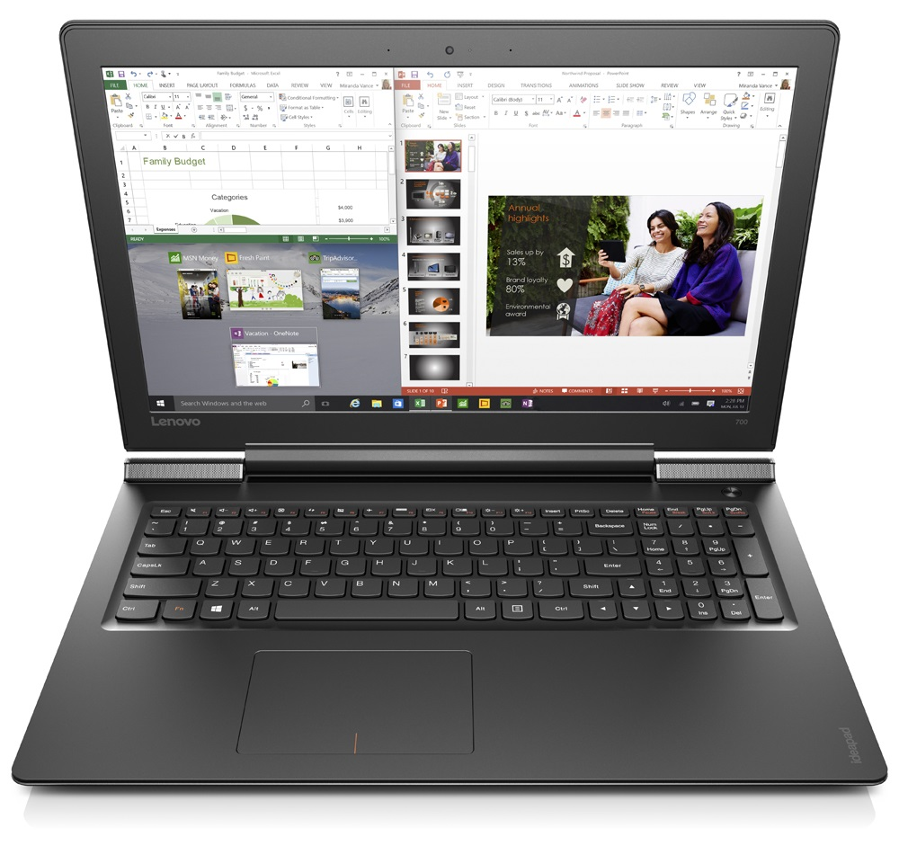 "Lenovo IdeaPad 700-15ISK i5-6300HQ 3,20GHz/8GB/1TB/15,6"" FHD/IPS/AG/GeForce 2GB/WIN10 černá 80RU00F4CK"