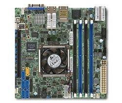 SUPERMICRO miniITX MB Xeon D-1541 (8-core), 4x DDR4 ECC reg DIMM,6xSATA1x PCI-E 3.0 x16, 2x1GbE+2x10GbE,IPMI
