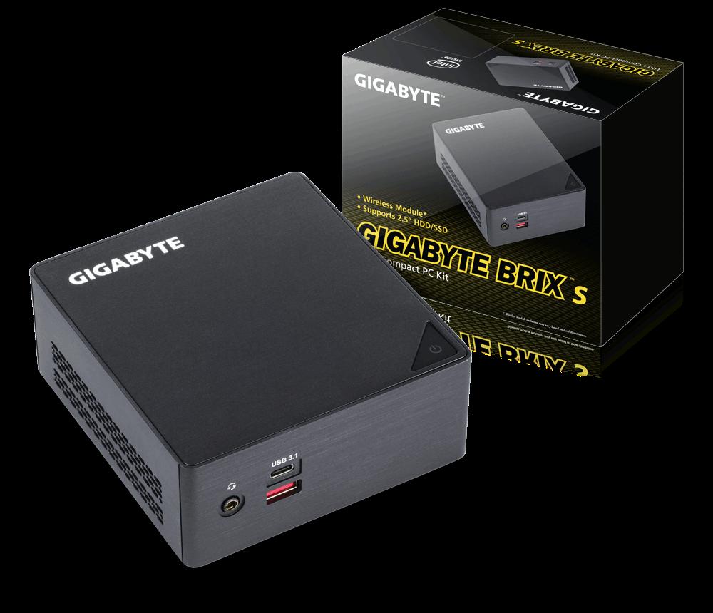 Gigabyte BRIX GB-BSi3HA-6100, i3-6100U 2.3GHz, DDR4-2133, HDMI, miniDP, USB 3.0