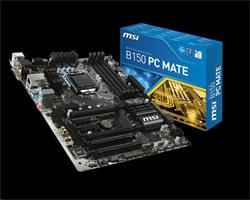 MSI B150 PC MATE/Socket 1151/DDR4/USB3/DSUB/DVI/HDMI//RTL8111H/ATX