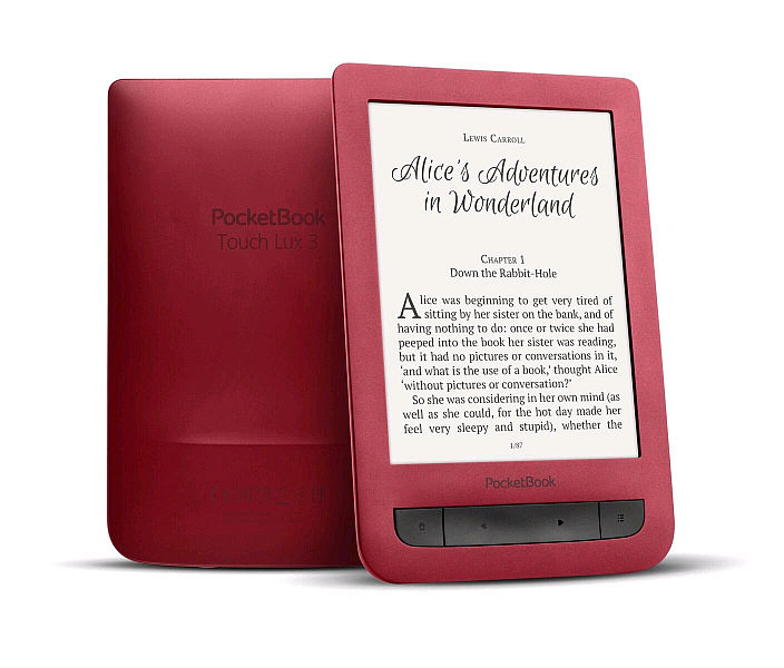 PocketBook 626 Touch Lux3 Red ebook reader, 6´´ E-ink 1024x758 LCD, WLAN b/g/n, 4GB/SD