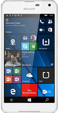 Microsoft Lumia 650 White Single Sim
