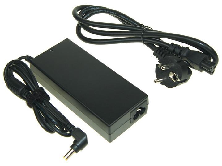 AVACOM Nabíjecí adaptér pro notebook 100-240V/19V 4,74A 90W zahnutý konektor 5,5mm x 2,5mm