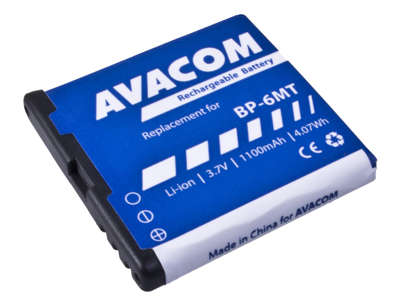 Náhradní baterie AVACOM Baterie do mobilu Nokia E51, N81, N81 8GB, N82, Li-Ion 3,6V 1100mAh (náh