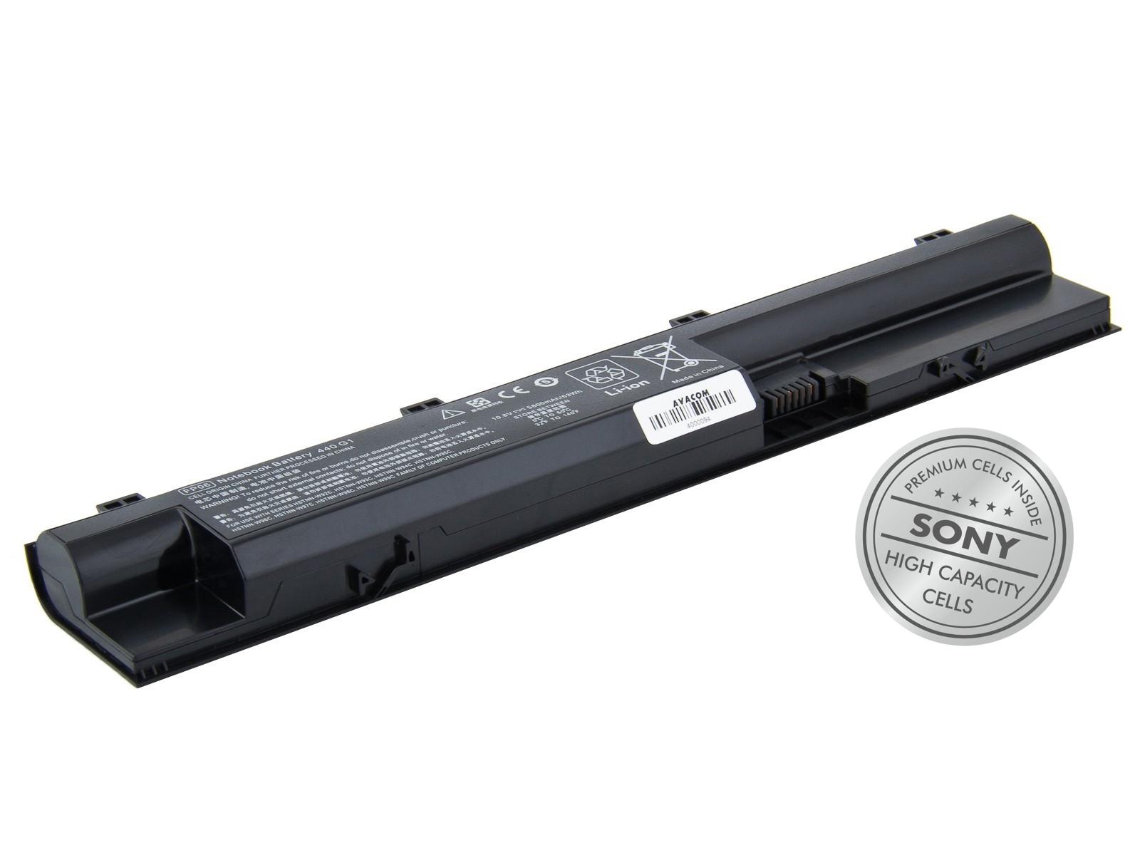 Náhradní baterie AVACOM HP 440 G0/G1, 450 G0/G1, 470 G0/G1 Li-Ion 10,8V 5800mAh/ 63Wh