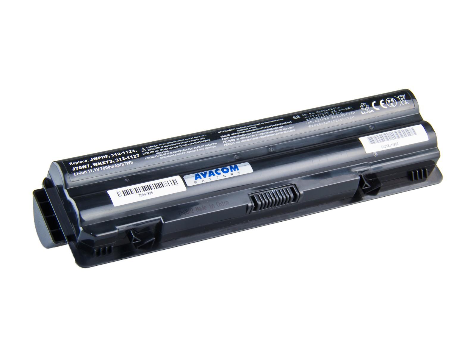 Náhradní baterie AVACOM Dell XPS 14/15/17 Li-ion 11,1V 7800mAh/87Wh