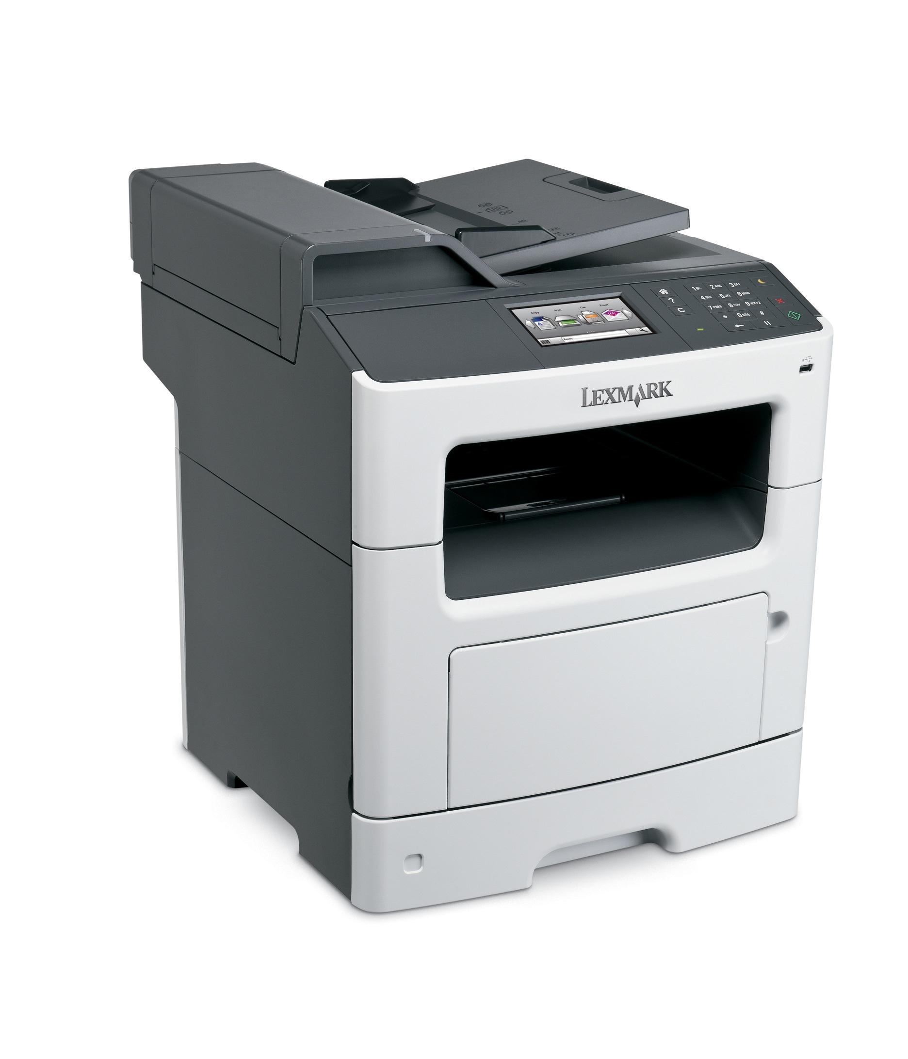 Lexmark MX410De mono laser MFP, 38 ppm, síť, duplex, RADF, fax, dotykový LCD