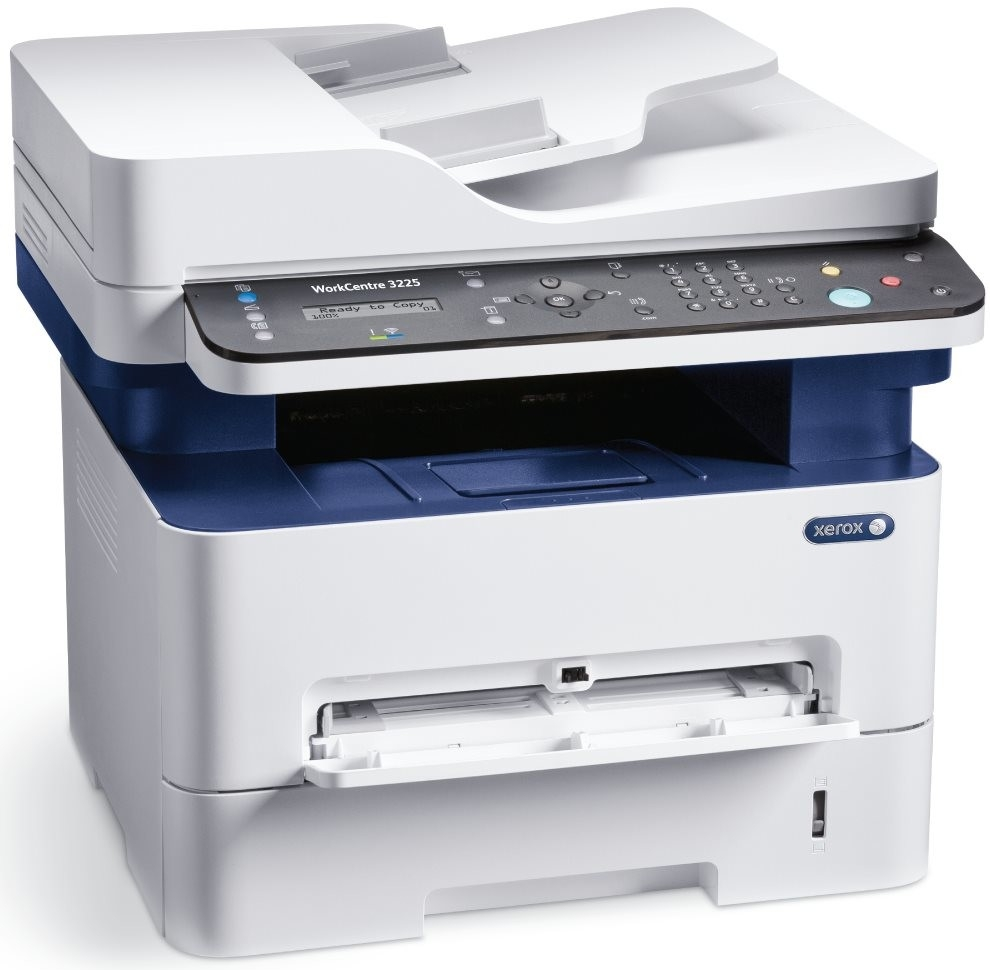 Xerox WorkCentre 3225DNIY ČB laser. MFZ, A4, USB/Ethernet, 256mb, DUPLEX, ADF, 28ppm, NET, Wifi, Apple AirPrint, Google