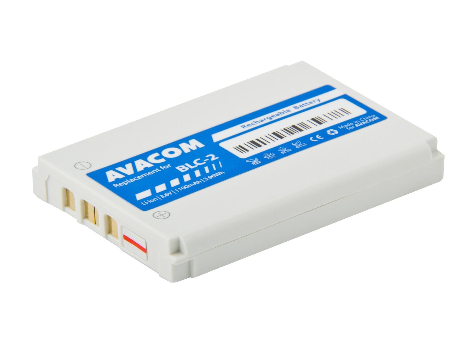 Náhradní baterie AVACOM do mobilu Nokia 3310, 3410, 3510, Li-ion 3,7V 1100mAh (náhrada BLC-2)