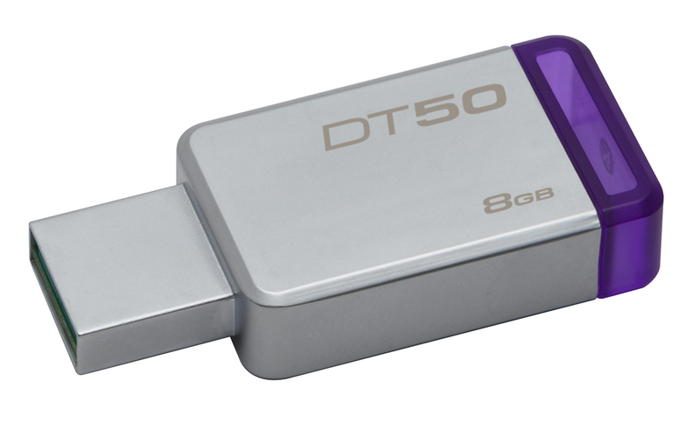 KINGSTON 8GB USB 3.0 DataTraveler 50 (Kovový/Fialová)