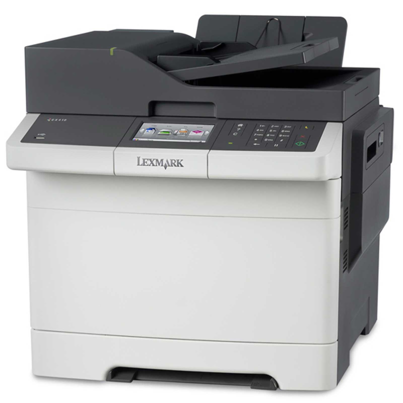 Lexmark CX410De color laser MFP, 30 ppm, síť, duplex, fax, RADF, dotykový LCD