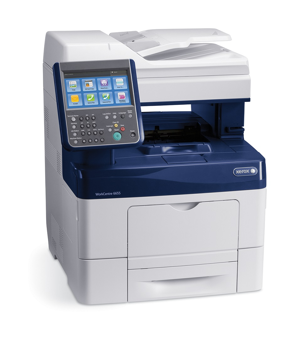 Xerox WorkCentre 6655i, barevná laser. multifunkce, A4, USB/ Ethernet, DADF, 35ppm, HDD,